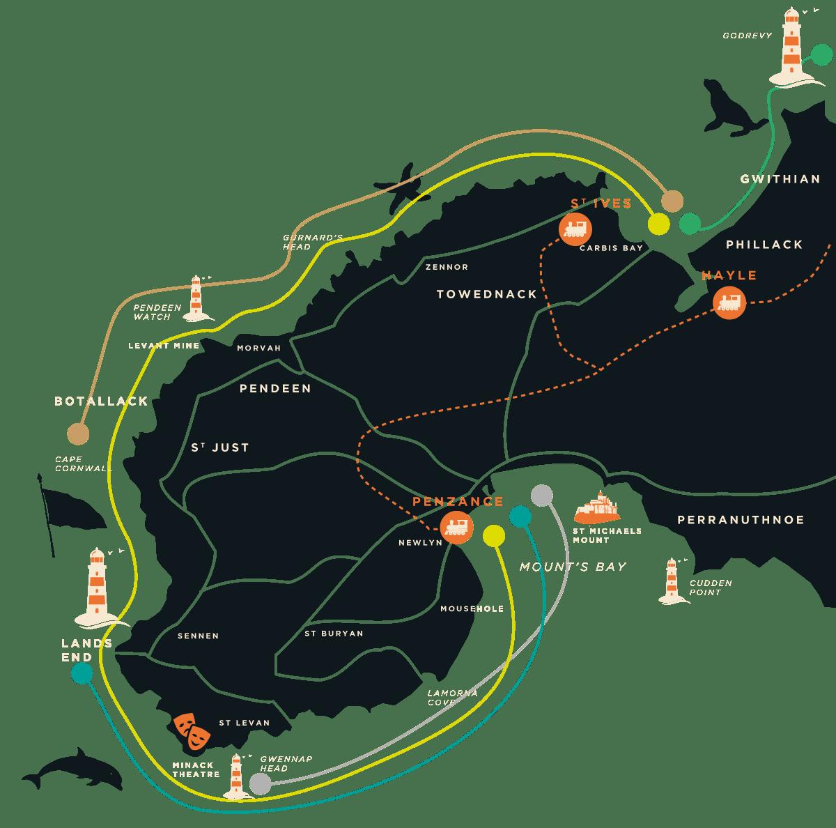 Coast Boat Trips Map
